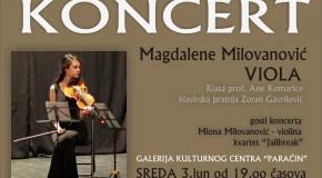 Koncert za violu MAGDALENA MILOVANOVIĆ