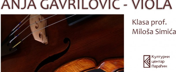 Koncert za violu – Anja Gavrilović